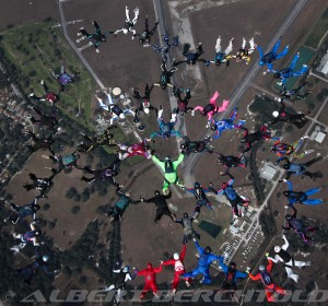 Fast 50 Skydiving Formation