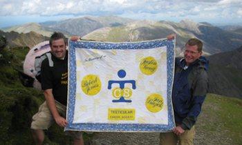 Mt. Snowdon Testicular Cancer Banner
