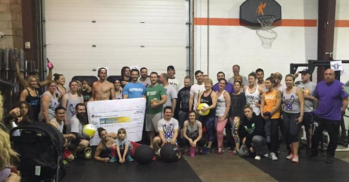 Picture of the Balls for Balls Athletes at CrossFit Impervious