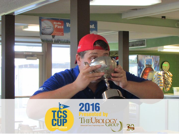 testicular Cancer Society Golf Tournament Winner Toast