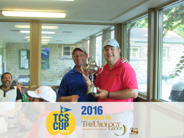 Testicular Cancer Society Golf Outing Winning Cup presentation
